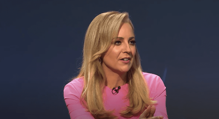 """Carrie Bickmore during an appearance as a guest on """"The Weekly"""" on June 19, 2019 