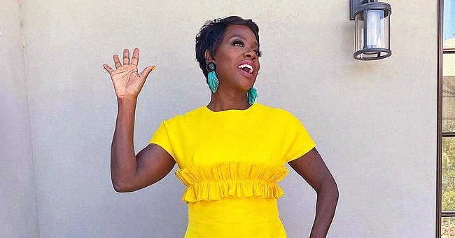 Viola Davis Dons a Yellow Greta Constantine Dress As She Celebrates Receiving AAFCA Icon Award