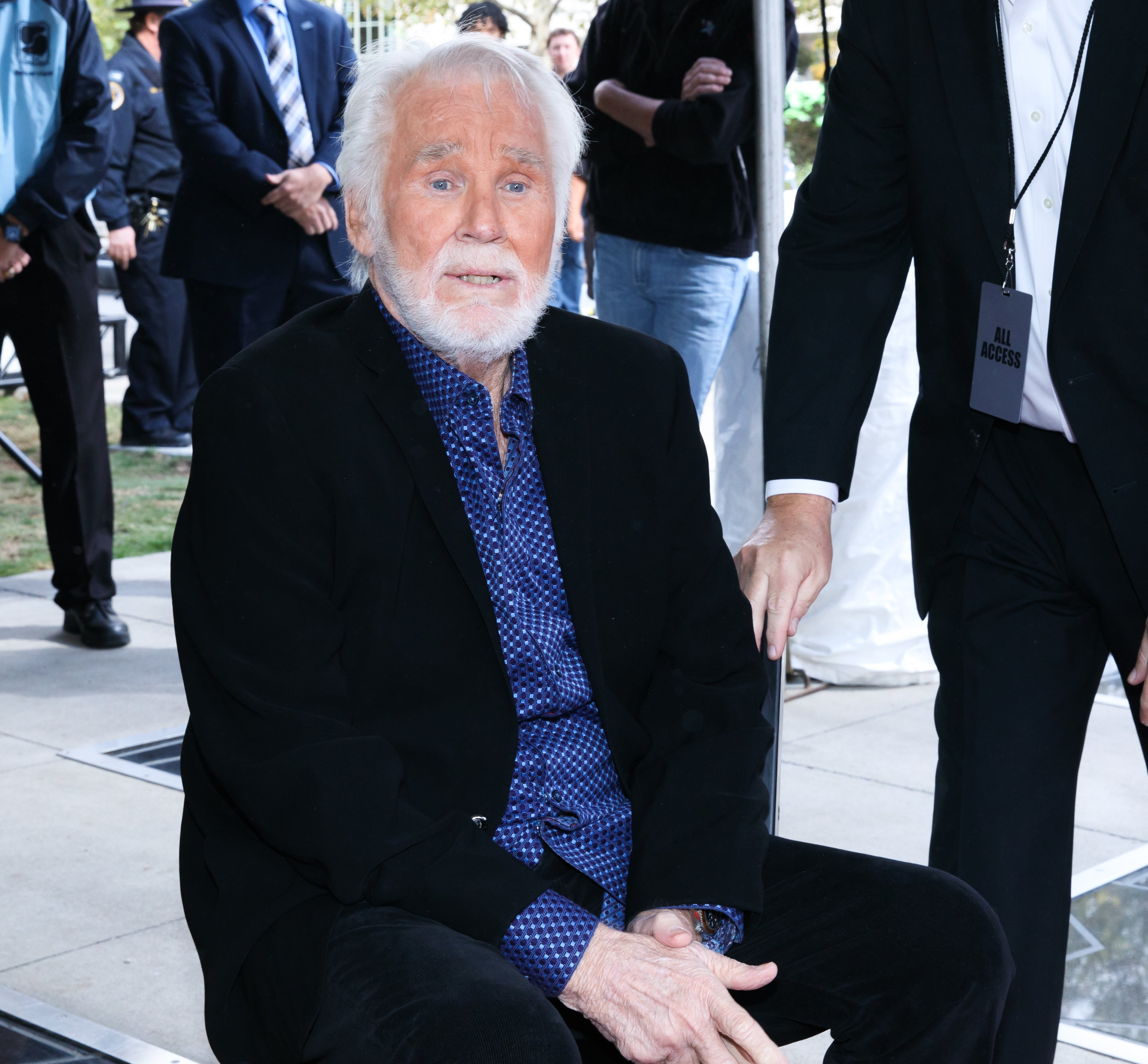 Kenny Rogers is inducted into the Nashville Music City Walk of Fame on October 24, 2017, in Nashville, Tennessee. | Source: Getty Images.