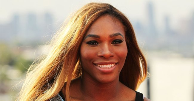 Serena Williams' Daughter Olympia Shows Her Cute Smile Wearing a Floral Dress with a White Bow