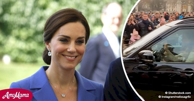 Kate Middleton totally surprises tourists by driving to the Queen's house herself