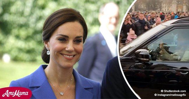 Kate Middleton asombra totalmente a turistas conduciendo ella misma a casa de la Reina