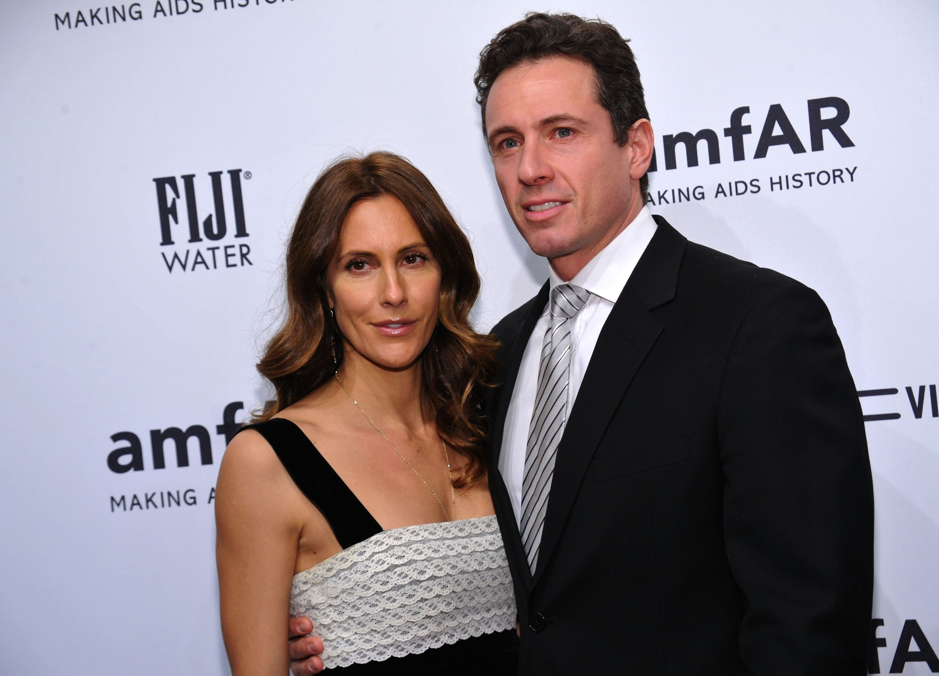 Cristina Cuomo and Chris Cuomo at the amfAR New York Gala to kick off Fall 2013 Fashion Week  | Source: Getty Images
