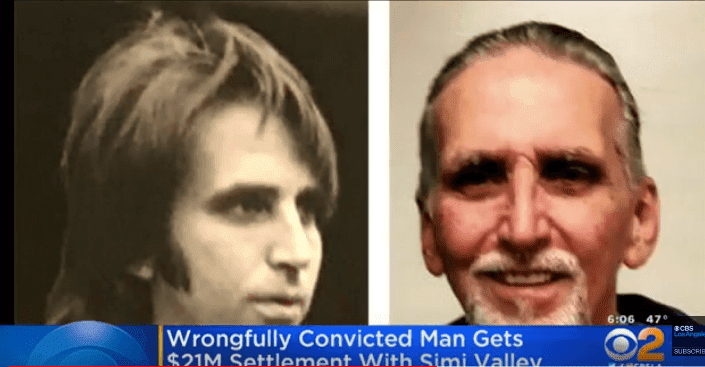 A pesar del dinero, él no podrá recuperar el tiempo perdido en prisión-Imagen tomada de YouTube-CBS Los Ángeles