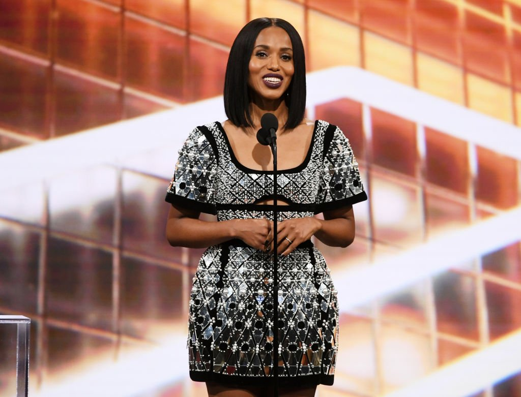 Kerry Washington speaks onstage during the 2019 British Academy Britannia Awards presented by American Airlines and Jaguar Land Rover at The Beverly Hilton Hotel | Photo: Getty Images