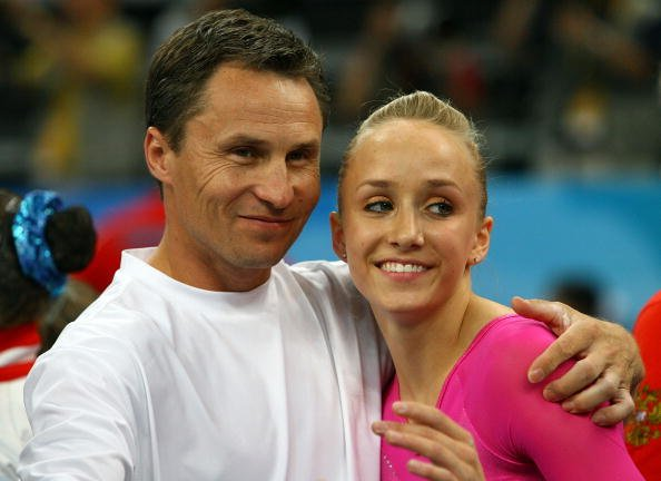 Nastia Liukin and Valeri Liukin at the National Indoor Stadium on August 15, 2008 in Beijing, China. | Photo: Getty Images
