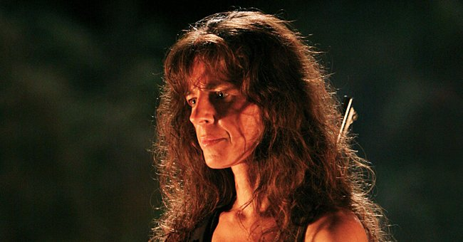 """Actress Mira Furlan on the set of """"Lost."""" 