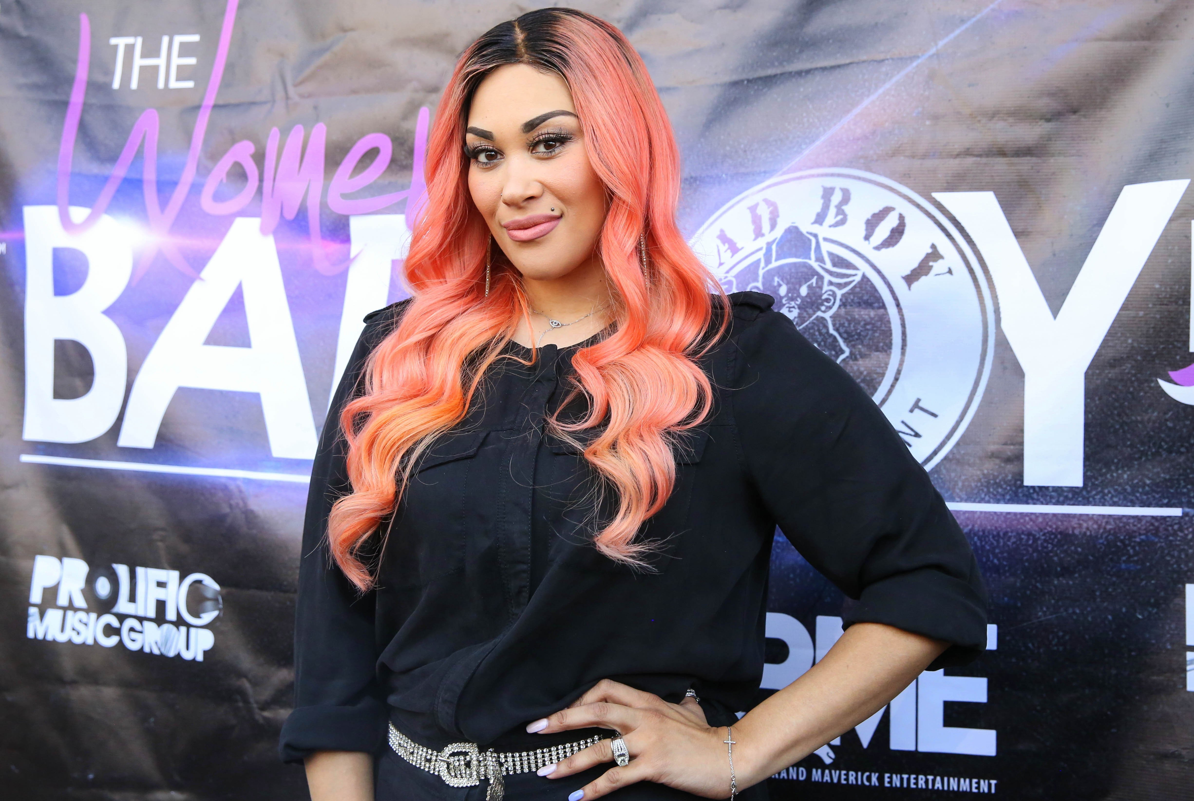 """Keke Wyatt at the red carpet of """"Women of Bad Boy"""" in Georgia in 2016. 