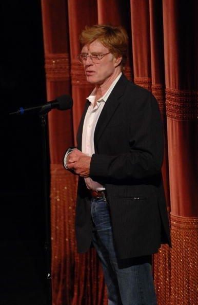 Robert Redford habla al Sundance Institute en mayo de 2007, en Brooklyn, New York.| Fuente: Getty Images.