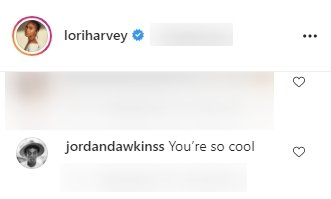 Follower commenting on one of Lori Harvey's Instagram posts. | Source: Instagram/loriharvey