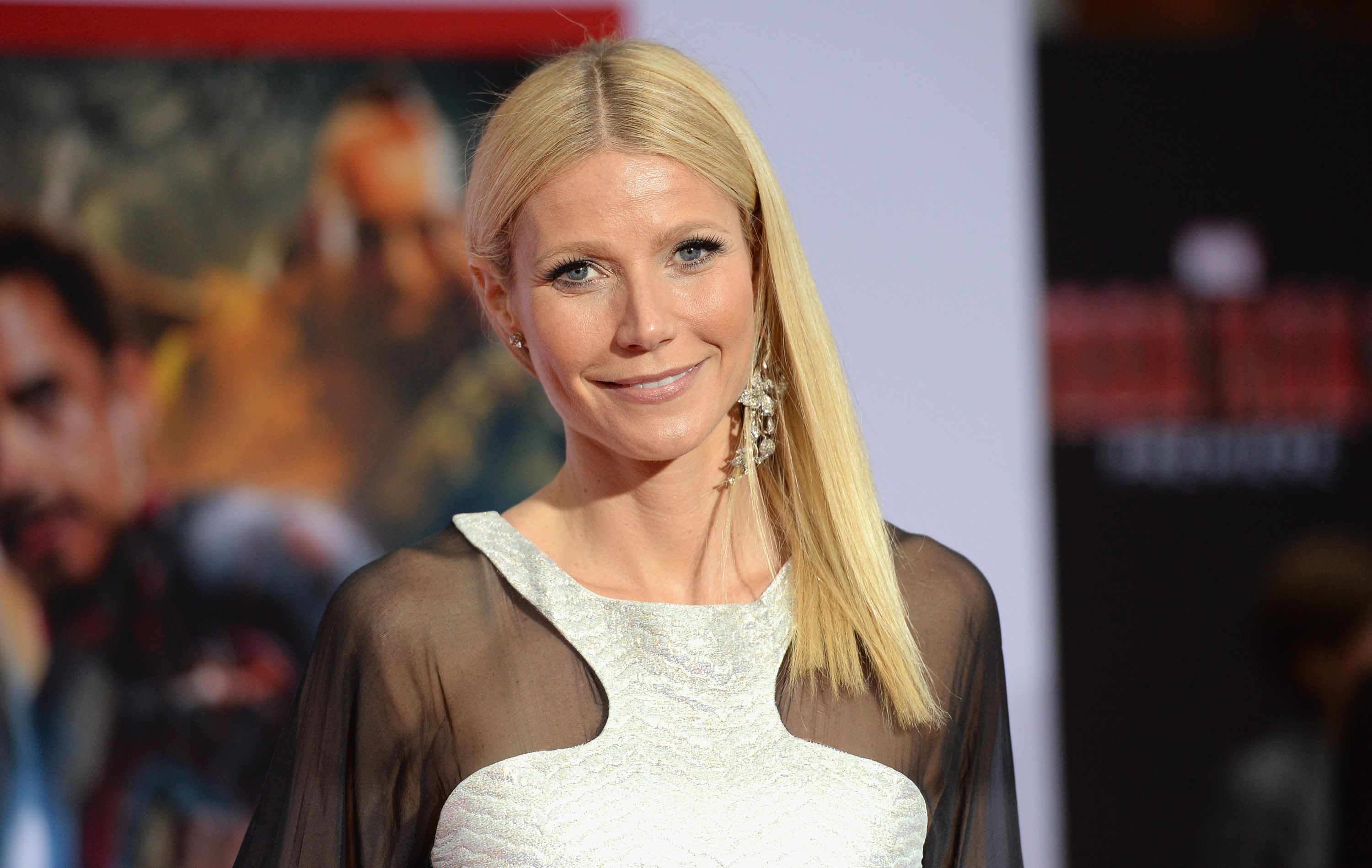 """Gwyneth Paltrow at the premiere of """"Iron Man 3"""" at the El Capitan Theatre on April 24, 2013, in Hollywood, California 
