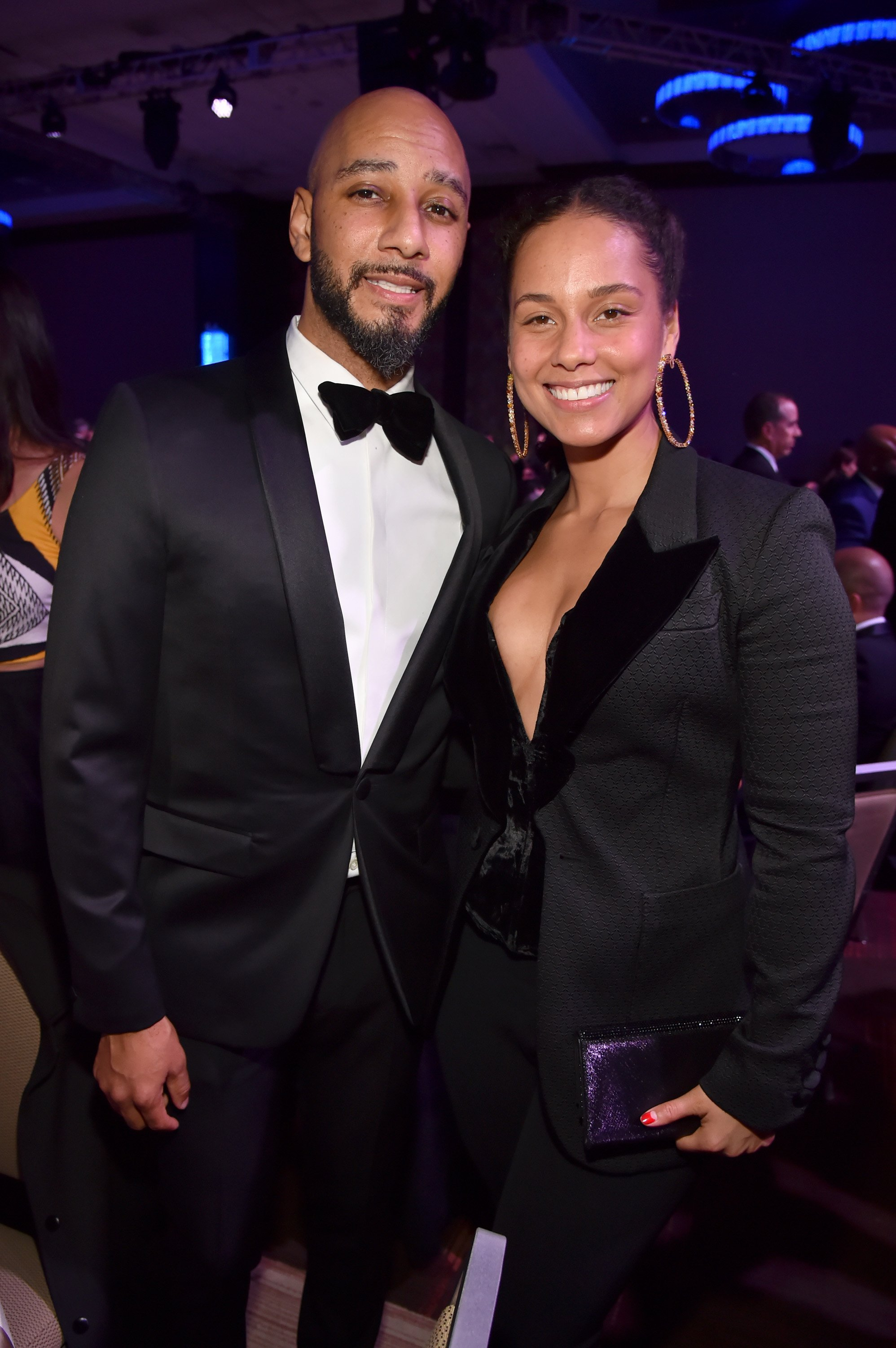 Husband and wife musical artists Swizz Beatz and Alicia Keys at a Pre-Grammy gala in January 2018. | Photo: Getty Images