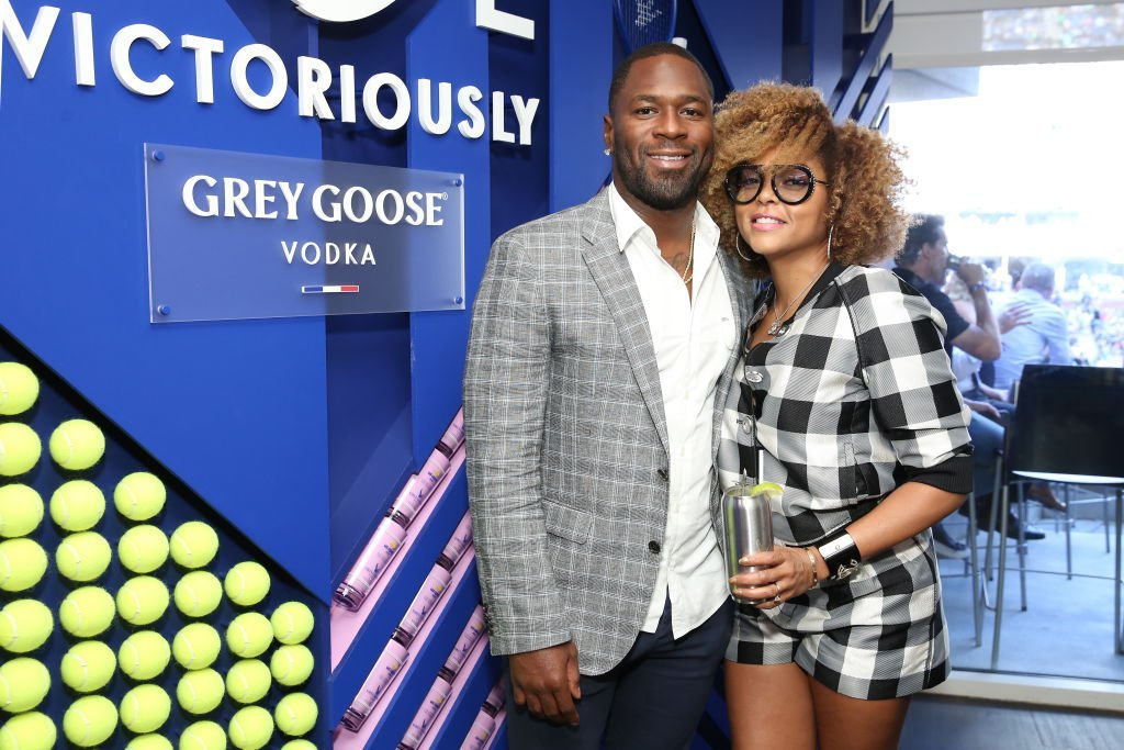Kelvin Hayden (L) and Taraji P. Henson attend as Grey Goose toasts to the 2019 US Open at Arthur Ashe Stadium | Photo: Getty Images