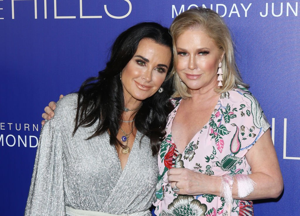 """Kyle Richards and Kathy Hilton attend the Los Angeles premiere of MTV's """"The Hills: New Beginnings,"""" June 2019   Source: Getty Images"""