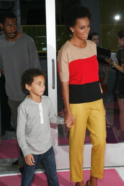 Solange Knowles and her son Daniel Julez Smith, Jr. attend the INC International Concepts annoucement at Open House Gallery  | Photo: Getty Images