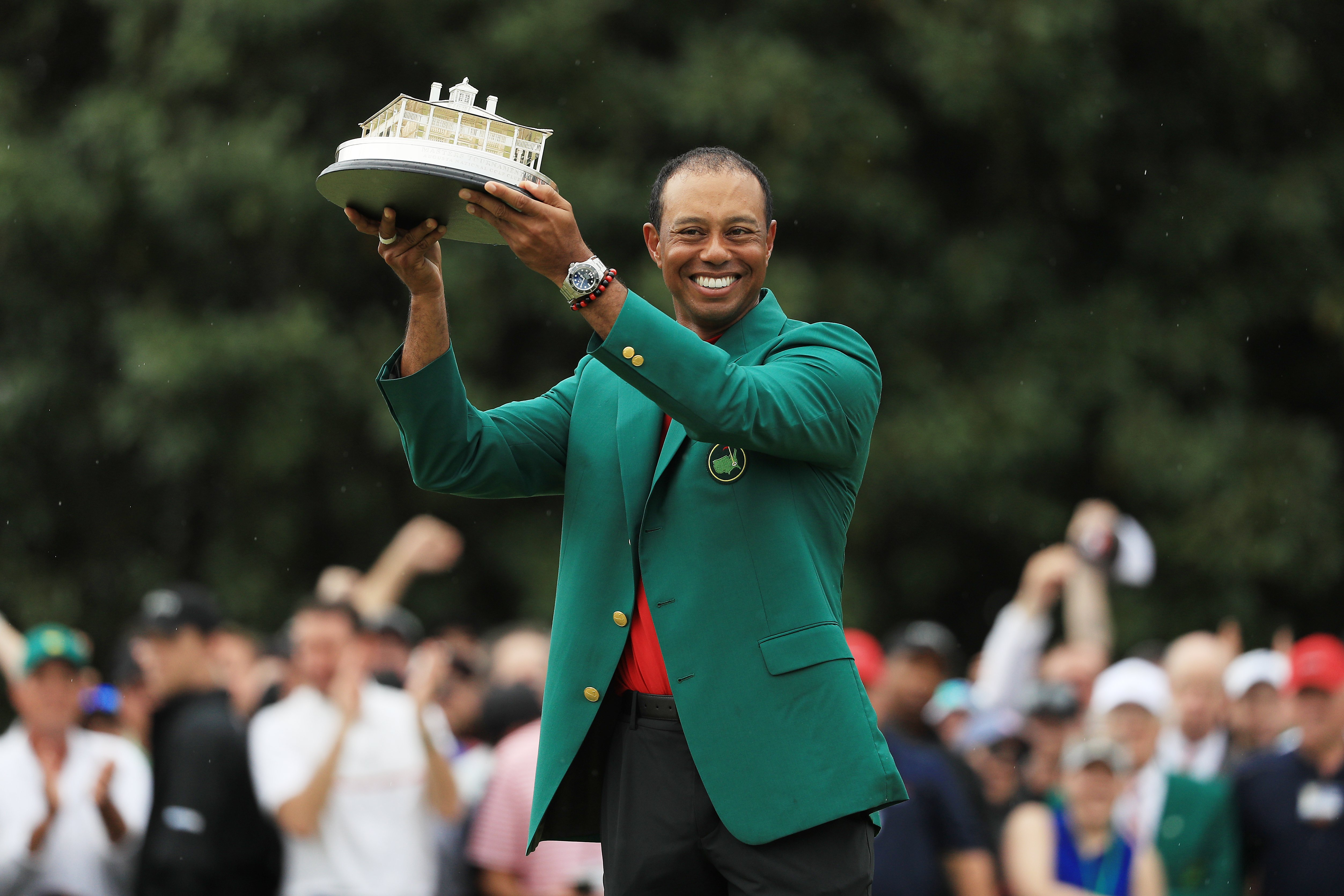 Tiger Woods after winning the Masters at Augusta National Golf Club on April 14, 2019. | Photo: GettyImages