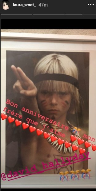 Un cliché et un message touchant à l'occasion de l'anniversaire de David Hallyday | Source: Story Instagram de Laura Smet