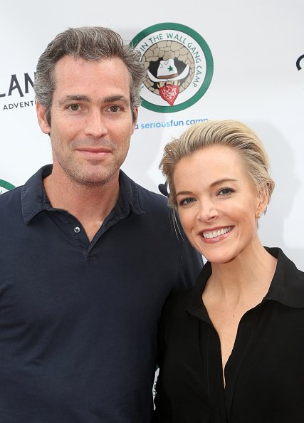 """Douglas Brunt and Megyn Kelly pose at the opening night celebration for """"Pip's Island"""" on May 20, 2019 