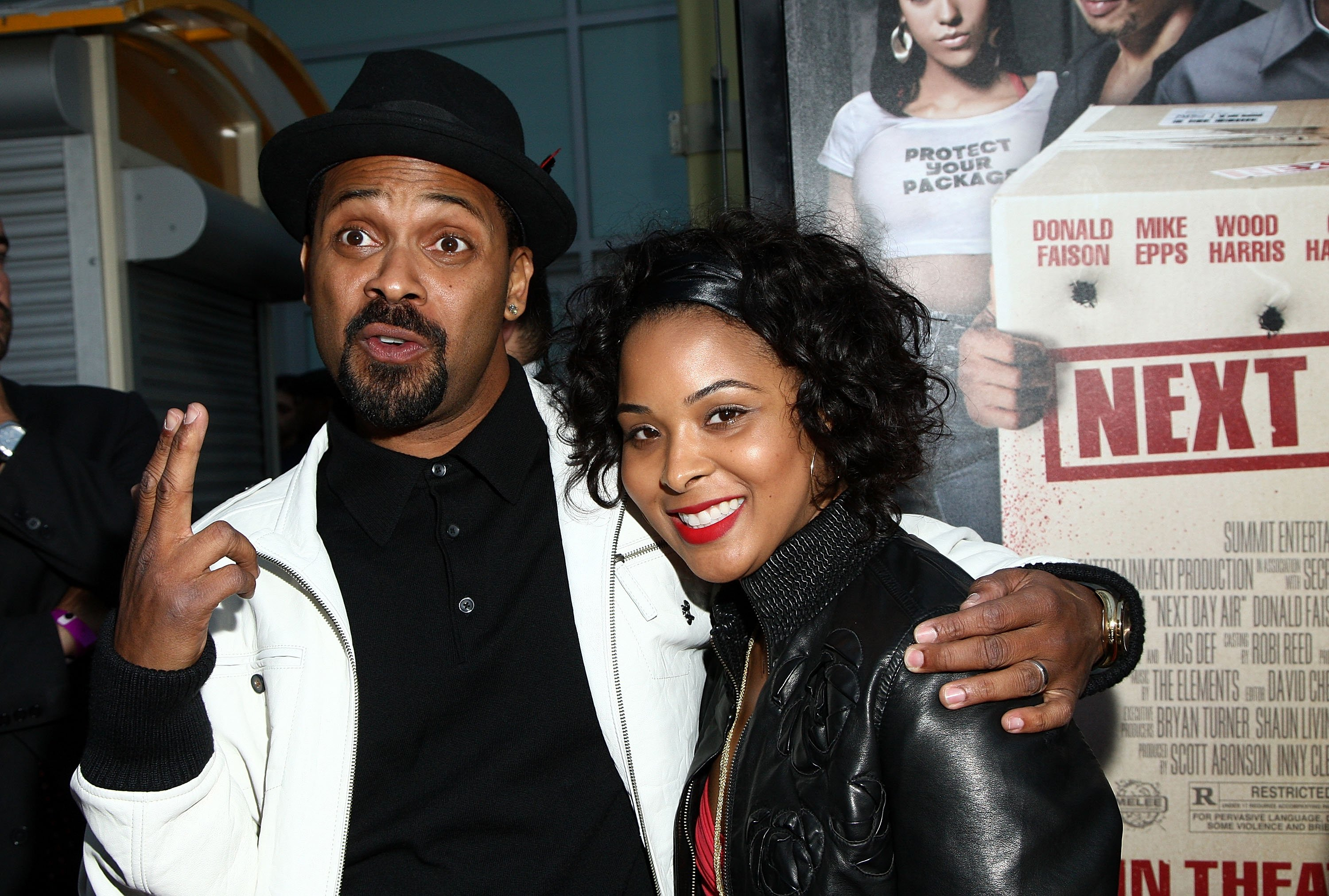 """Mike Epps and ex-wife Mechelle McCain arrive at the screening of Summit Entertainment's """"Next Day Air"""" held at the Arclight Theaters on April 29, 2009 
