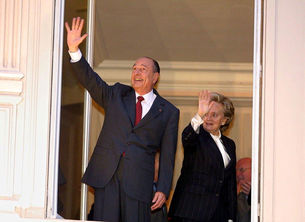Jacques et Bernadette Chirac après sa seconde élection en 2002. l Source : Getty Images
