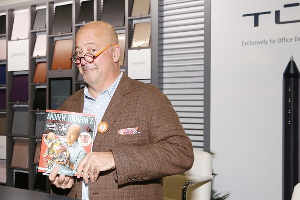Chef Andrew Zimmern posing in the TUL  in New York City. | {hoto: Getty Images.