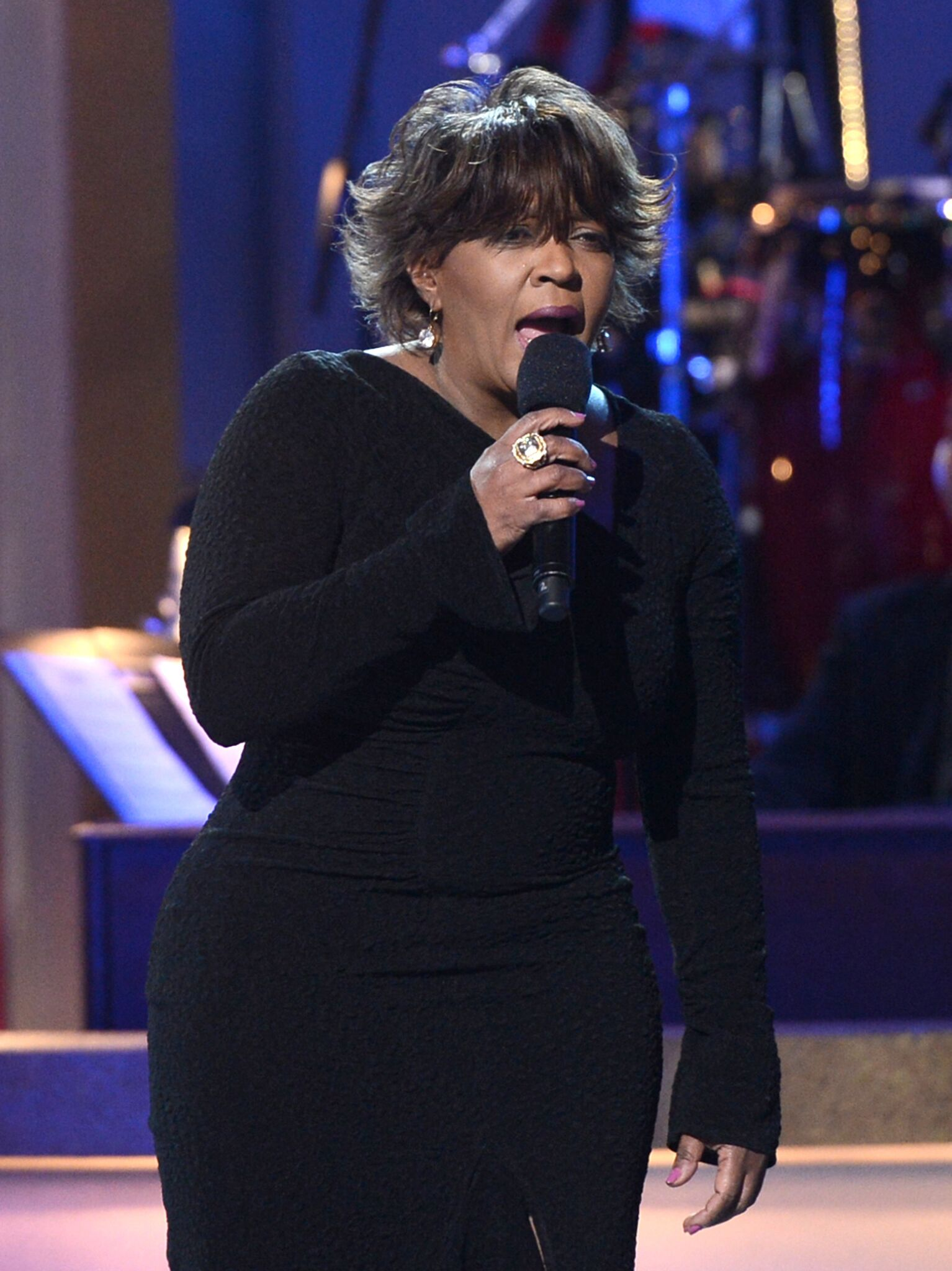 Anita Baker performs onstage during the BET Celebration of Gospel 2013 at Orpheum Theatre   Getty Images
