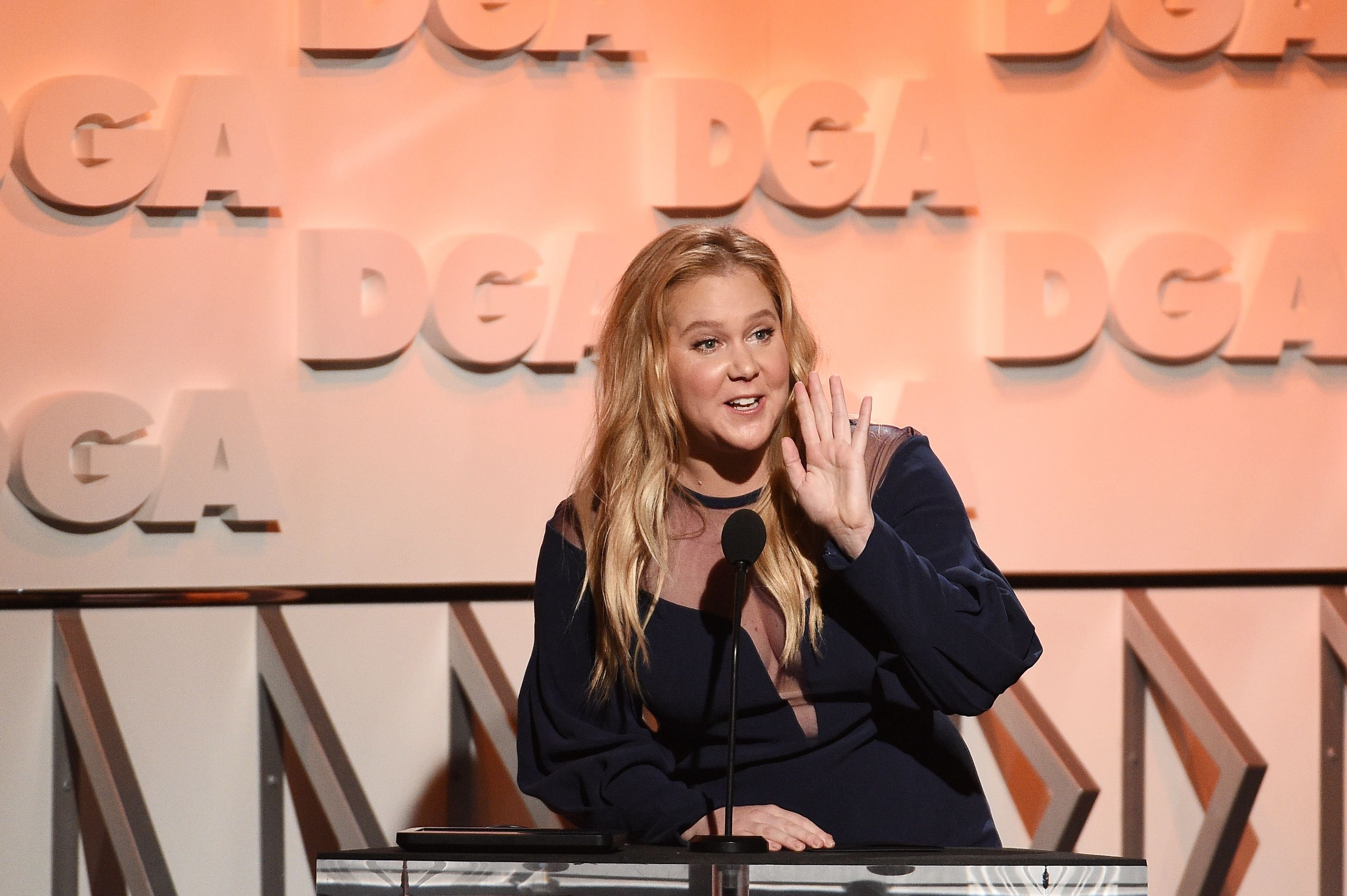 Amy Schumer at the 70th Annual Directors Guild Of America Awards on February 3, 2018, in Beverly Hills, California | Photo: Kevork Djansezian/Getty Images