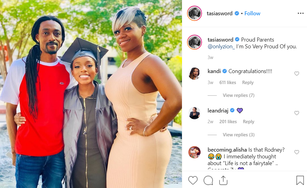 Zion Barrino and her parents.   Photo: Instagram/Fantasia Taylor (@tasiasword)