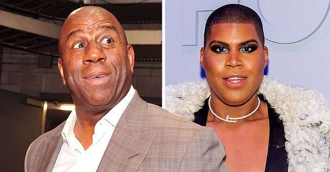 Magic Johnson's Son EJ Flaunts Body in Brown Minidress with Deep Cleavage in Recent Photos