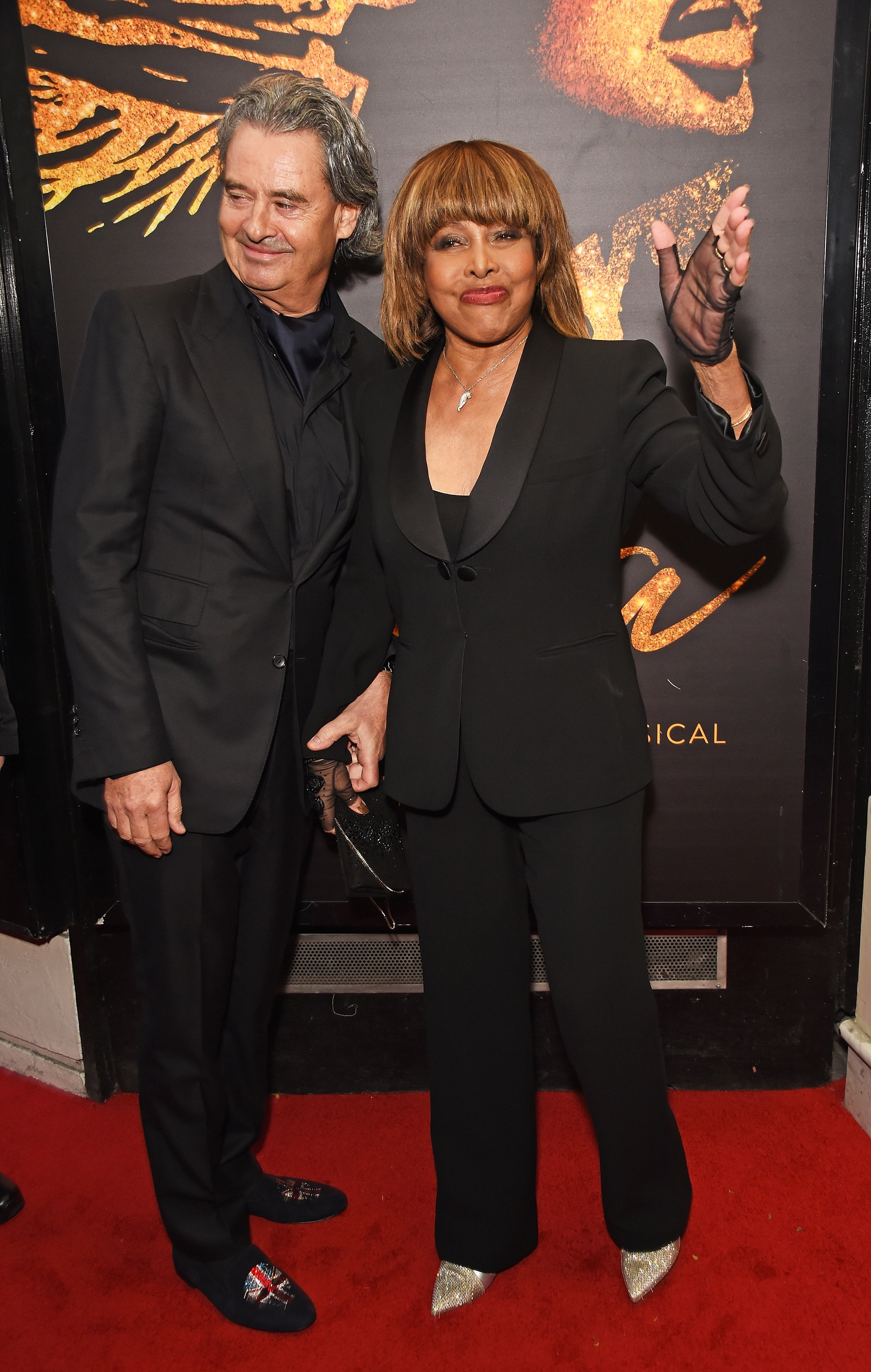 """Erwin Bach and Tina Turner at the press night performance of """"Tina: The Tina Turner Musical"""" on April 17, 2018 in London. 