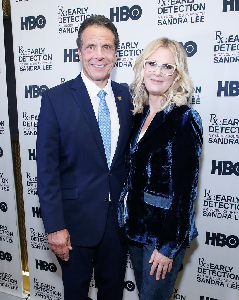 """New York State Governor Andrew Cuomo and Sandra Lee attend """"RX: Early Detection A Cancer Journey With Sandra Lee"""" New York screening at HBO Theater on October 2, 2018 