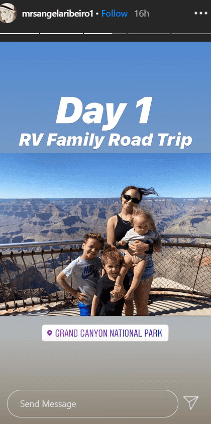 Angela Ribeiro and her children at the Grand Canyon | Source: Instagram/mrsangelaribeiro1