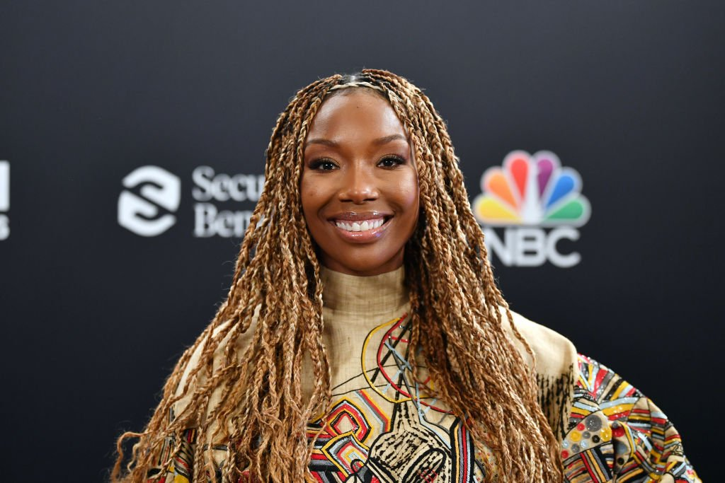 Brandy pictured backstage at the 2020 Billboard Music Awards on October 14, 2020 in Los Angeles, CA.   Photo: Getty Images
