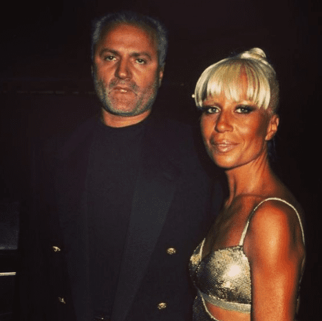 Donatella Versace with her brother, Gianni Versace, in the late 1990s. | Photo: instagram.com/channingtatum
