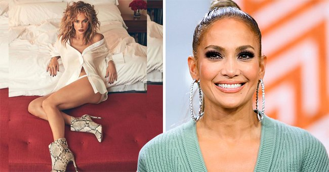 Check Out This Jaw-Dropping Pic of Jennifer Lopez Posing in Snakeskin Boots & Unbuttoned Shirt