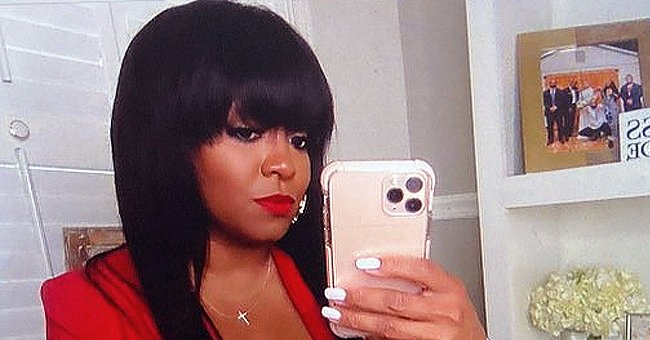 Keshia Knight Pulliam Dons a Vibrant Red Jacket & Matching Lipstick in a New Photo