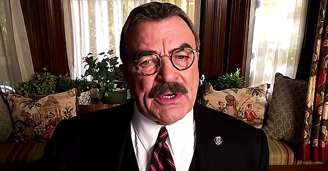 """Tom Selleck pictured on """"The Drew Barrymore Show"""" 2021. 