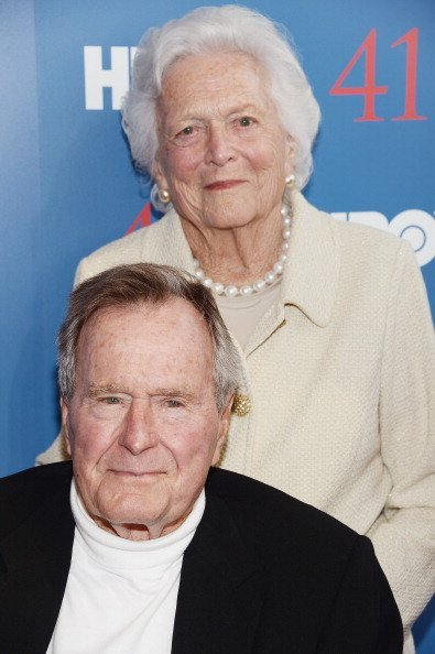 President George H.W. Bush and Barbara Bush at the HBO Documentary special screening of '41' on June 12, 2012 in Kennebunkport, Maine | Photo: Getty Images
