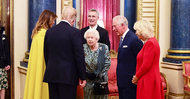 Princess Anne Appears to Shrug at Queen Elizabeth as the Royals Greet Donald & Melania Trump at Buckingham Palace