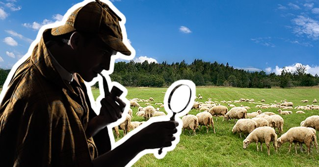 Daily Joke: Sherlock Holmes and Dr. Watson Spot a Flock of Sheep While on a Train