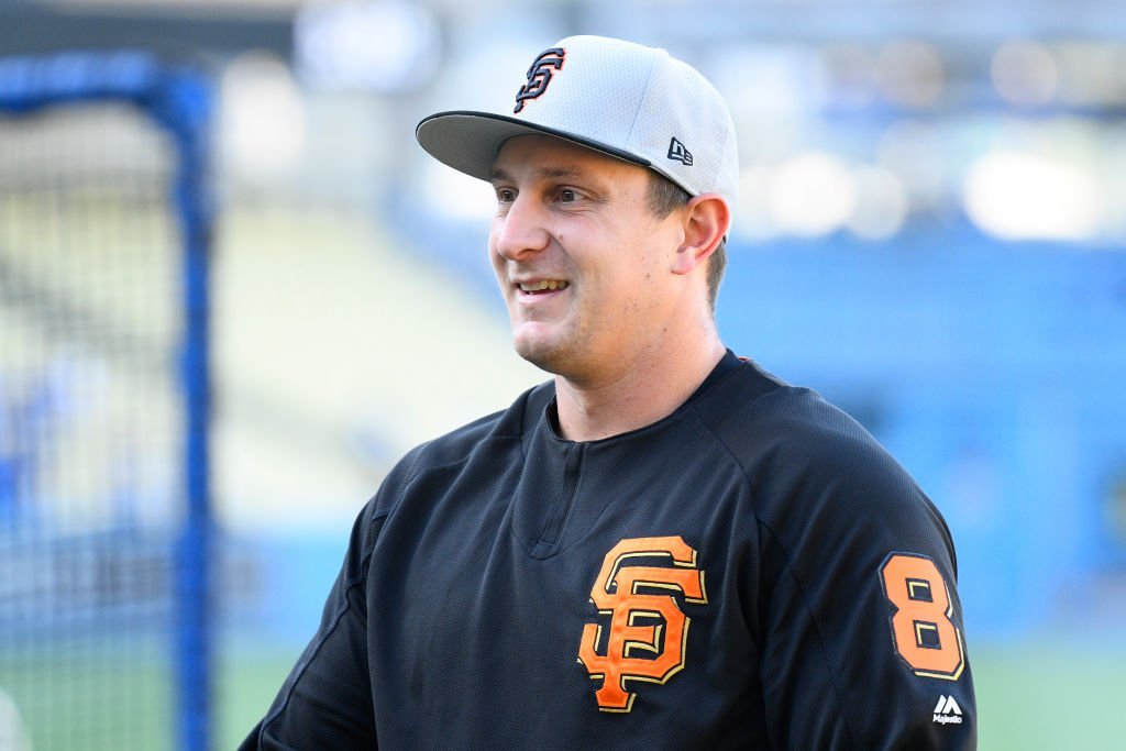 San Francisco Giants outfielder Alex Dickerson looks on before a MLB game between the San Francisco Giants and the Los Angeles Dodgers on September 6, 2019 | Photo: Getty Images