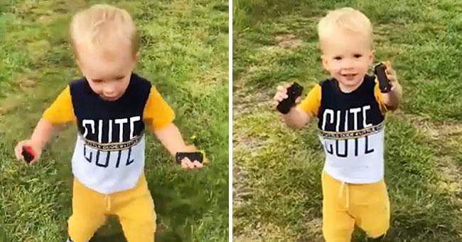 Une vidéo déchirante montre un enfant jouant et chantant sur la tombe de son père décédé