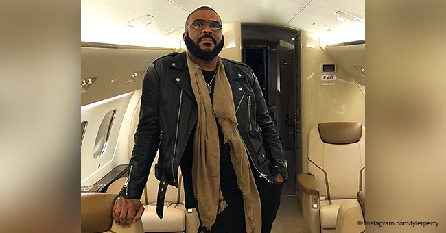 Tyler Perry makes hearts go wild, posing in leather jacket & tight jeans in his private jet