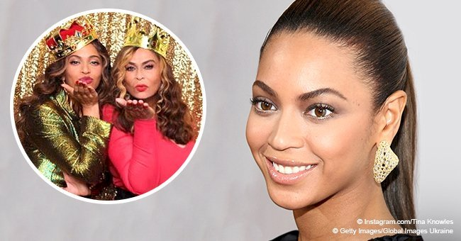 Beyoncé stuns in green pantsuit at mom Tina Knowles' surprise birthday party