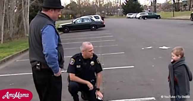 Police officer goes above and beyond to help family sleeping in car