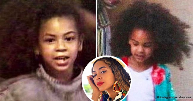Beyoncé shares comparison pic of her & Blue Ivy at age 7 after their recent public outing