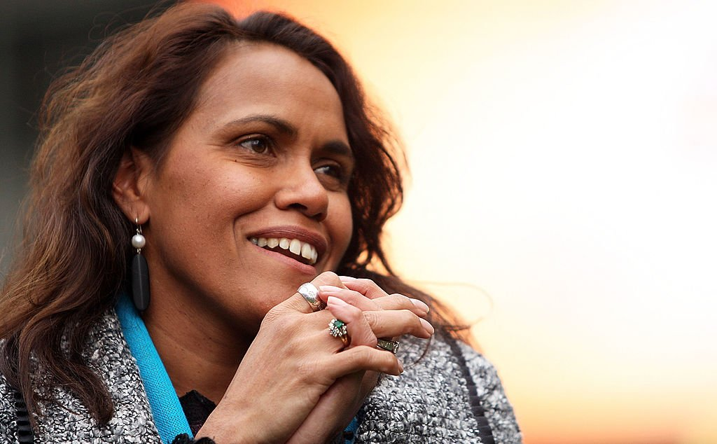Cathy Freeman speaks to FIFA delegates and officials during the FIFA Australian Inspection Tour in July 2010 in Sydney, Australia.   Photo: Getty Images