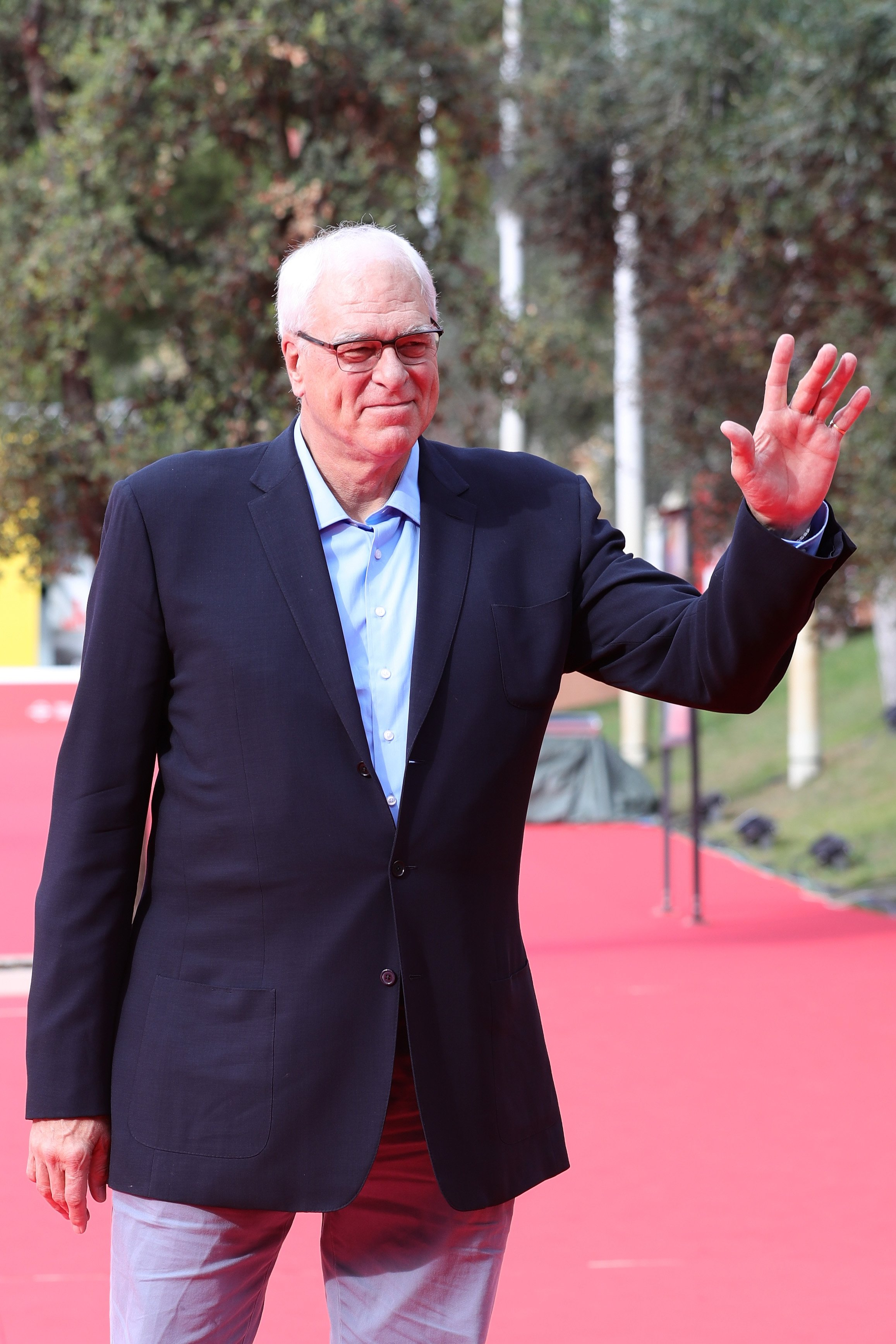 Phil Jackson walks a red carpet during the 12th Rome Film Fest at Auditorium Parco Della Musica on October 28, 2017 | Photo: Getty Images