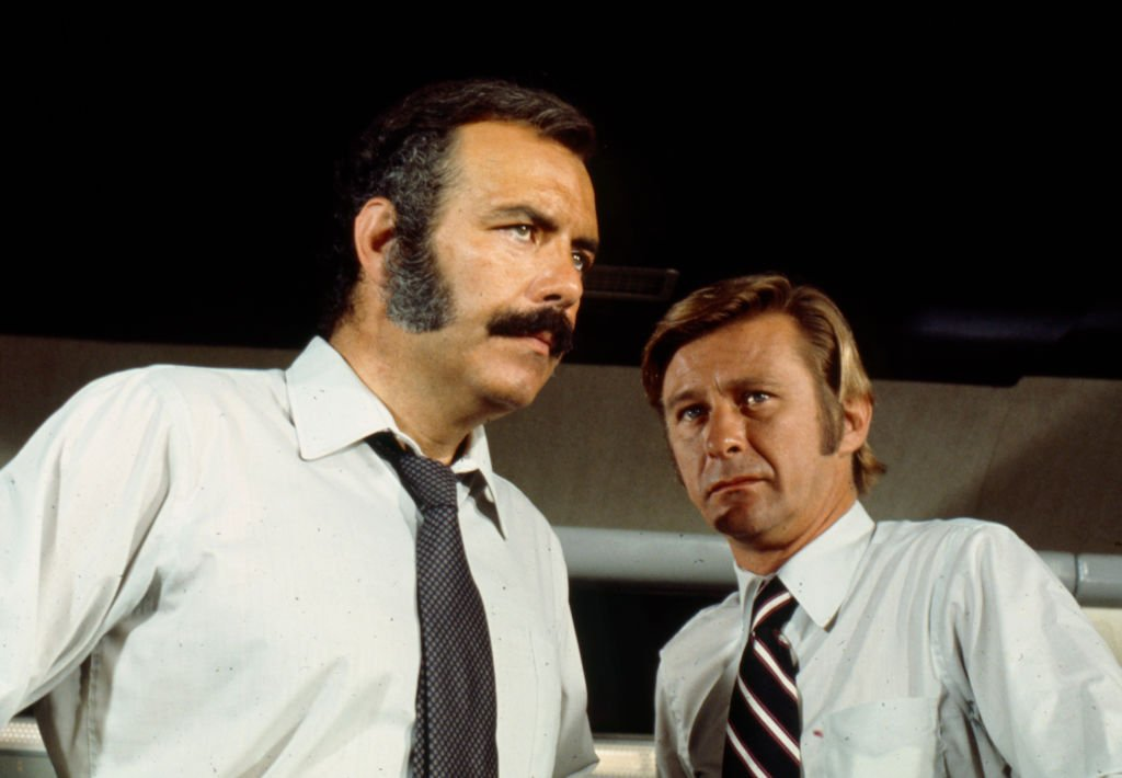 """Pernell Roberts, Paul Carr trat 1972 im Walt Disney Television in der Fernsehserie """"Owen Marshall, Counselor at Law"""" in der Episode """"The Trouble with Ralph"""" auf. (Foto von Walt Disney Television) Quelle: Getty Images"""