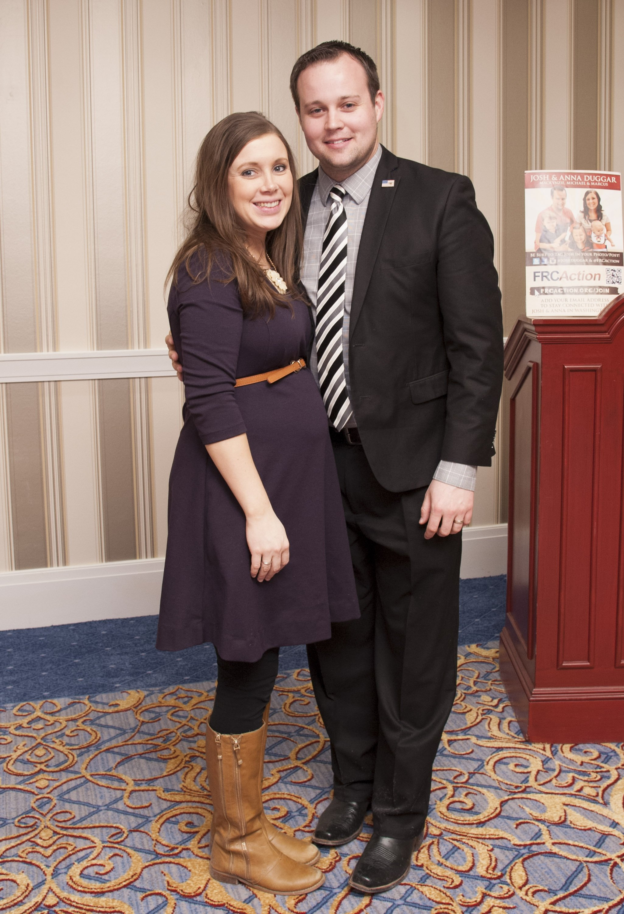 Anna and Josh Duggar pictured at the 42nd annual Conservative Political Action Conference, 2015, Maryland. | Photo: Getty Images